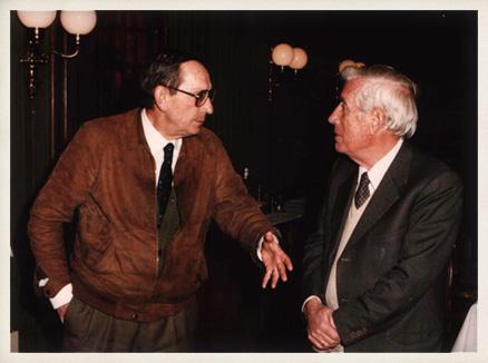 Miguel Delibes y Josep Vergés, 1985.