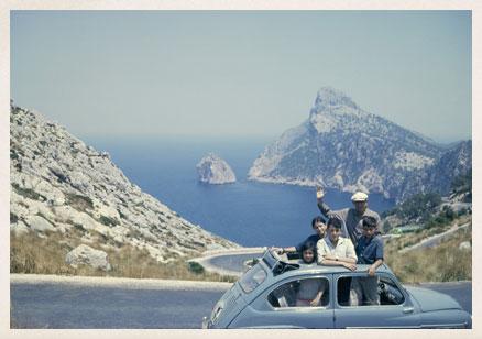 Vacaciones en Mallorca con sus cuatro hijos mayores.