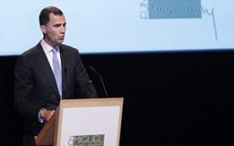 Felipe VI, durante su interención en el acto de presentación de la Fundación