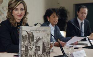 Los autores del libro en la presentación del proyecto (sala fray Pío, monasterio del Prado)