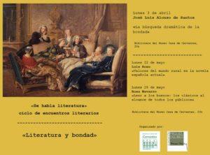 Cartel Ciclo Literatura y bondad. José Luis Alonso