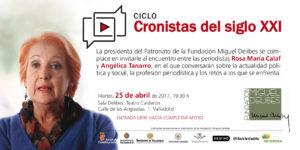 """Tarjeta de invitación al cuarto encuentro del Ciclo """"Cronistas del Siglo XXI"""""""