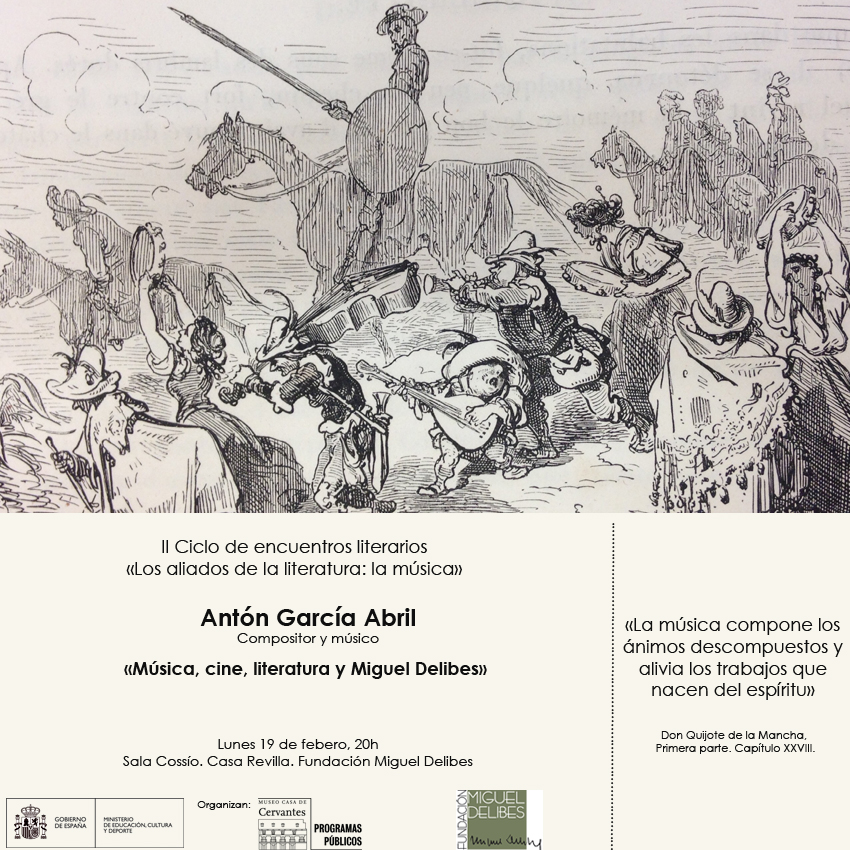 """Antón Garcia Abril y """"Los aliados de la literatura:la música"""""""