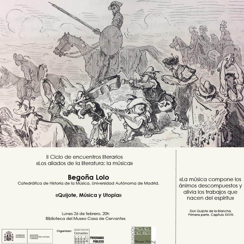 Cartel II Ciclo de encuentros literarios, con Begoña Lolo