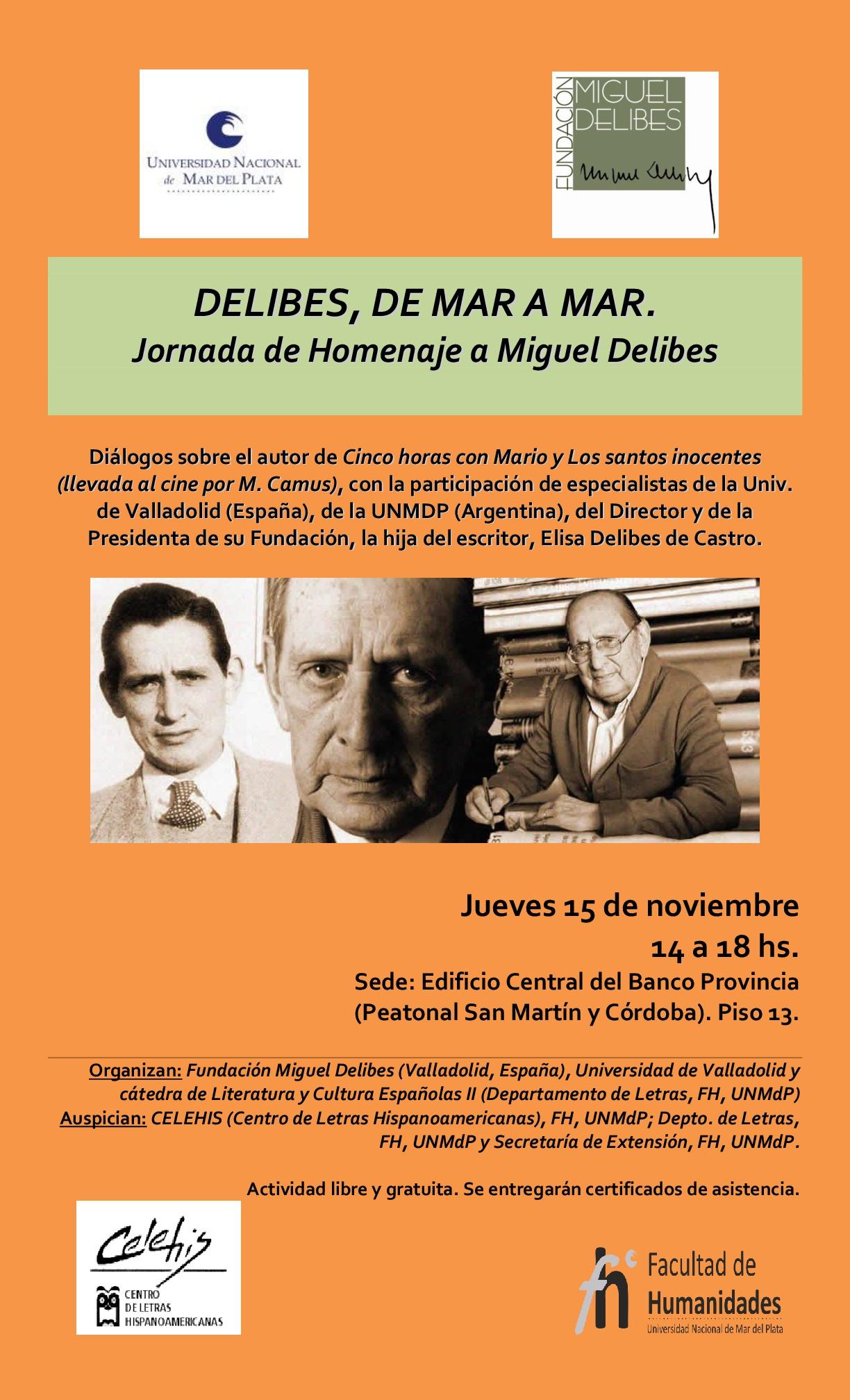 Jornada homenaje a Miguel Delibes en Argentina