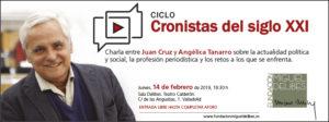 Ciclo cronistas del Siglo XXI. Juan Cruz.